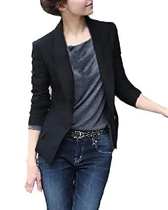 Chaquetas De Mujer Talla Grande Fashion Elegantes Negocios Oficina Sencillos Especial Blazer Manga Larga De Solapa Slim Fit Primavera Otoño Camisa ...