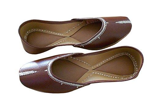 traditionnel pour kalra Parti indien Creations de femme Chaussures Marron synthétique xTacPnTW