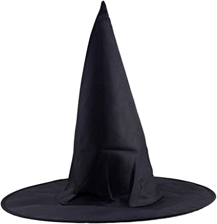Adult Womens Witch Hat For Halloween Party Costume Cosplay Accessory Cap Black