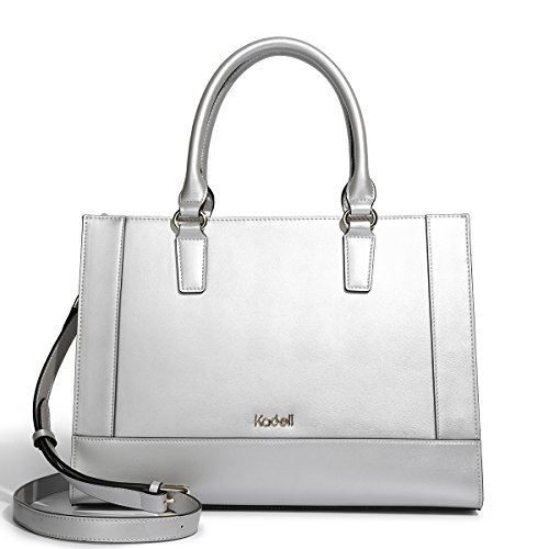 Shoulder Leather Fashion Bags Tote Handbags Satchel Large Women handle Top Messenger Kadell Silver Pu BRxPXcw