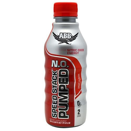 ABB Speed Stack Pumped N.O. - Fruit Punch - 12- 22 fl oz (1 pt 6 fl oz) bottles