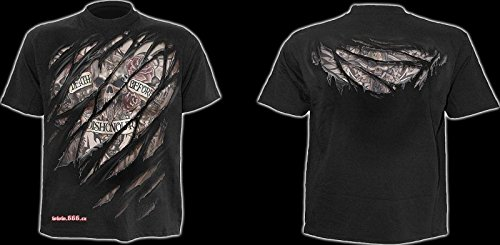 Spiral Death before Dishonour T - Shirt, schwarz