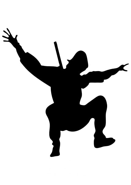 Amazon.com: Wallmonkeys WM237810 Action Ninja Silhouette-7 ...