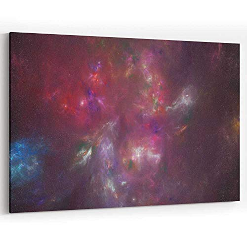 (Colourful Universe of Galaxies Stars and Nebulas Canvas Art Wall Dector for Modern Home Decor)