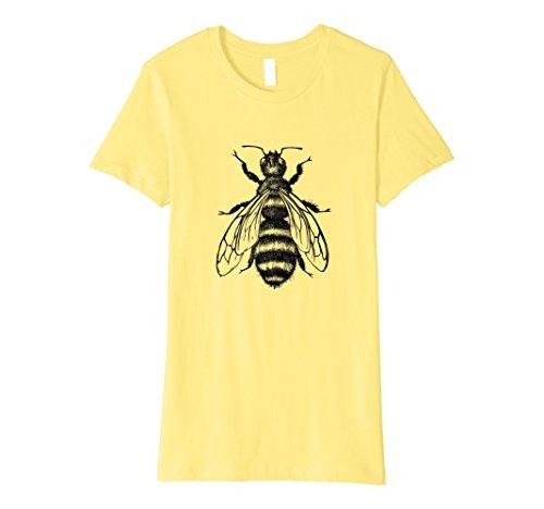Womens T-shirt Bee (Womens Honey Bee T-Shirt Large Lemon)