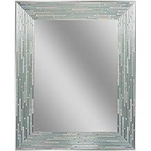 "Headwest Reeded Sea Glass Wall Mirror, 24"" x 30"""