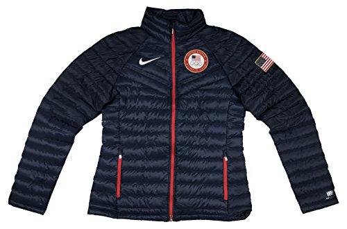 Nike Women's Aeroloft 800 Summit Olympics USA Down Jacket Navy (Large)