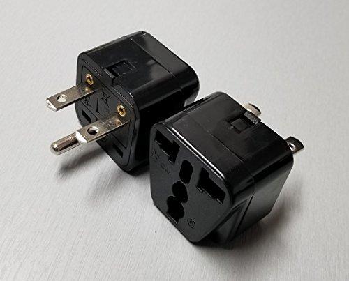 Universal Plug Adapter - NEMA 6-15P - 208/220/230/240 Volt - 15 Amps Max - Black - 1 Pack ()