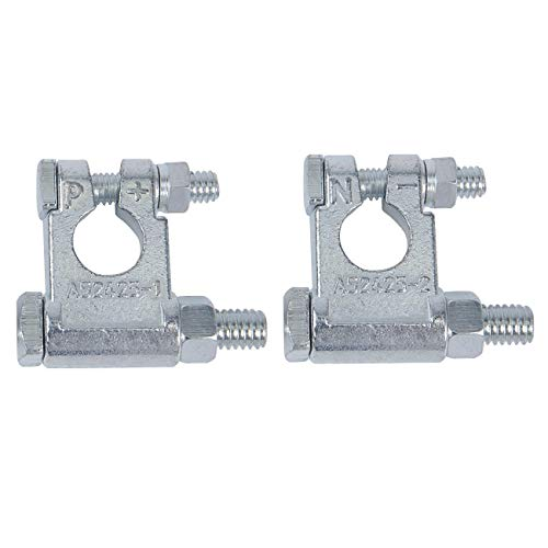 Partol 2 Pcs Military Style Battery Terminals Top Post - Positive & -