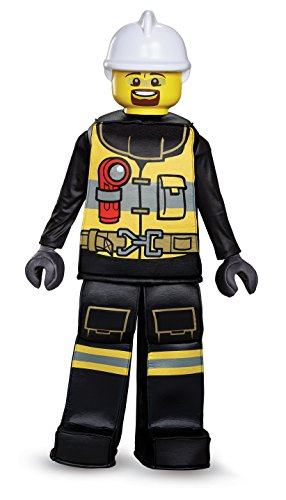 LEGO Firefighter Prestige Costume, Black/Yellow, Small (4-6) -