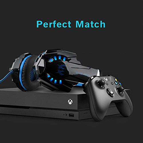 41eIaq6hovL - DIZA100 Kotion Each G9000 Gaming Headset Headphone 3.5mm Stereo Jack with Mic LED Light for Xbox One S/Xbox one/PS4/Tablet/Laptop/Cell Phone