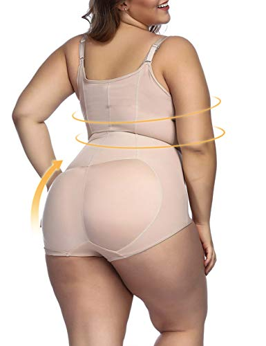 Lover-Beauty Women's Open-Bust Bodysuit Body Shaper Shapewear Romper