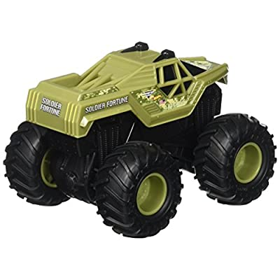 Hot Wheels Monster Jam Rev Tredz Soldier Fortune Vehicle: Toys & Games