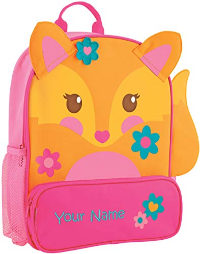 (Personalized Stephen Joseph Fox Sidekick Backpack with Embroidered Name)