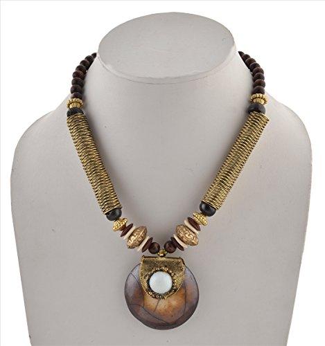 Zephyrr Fashion Pendant Necklace Earrings Set Handmade Tibetan Style ()