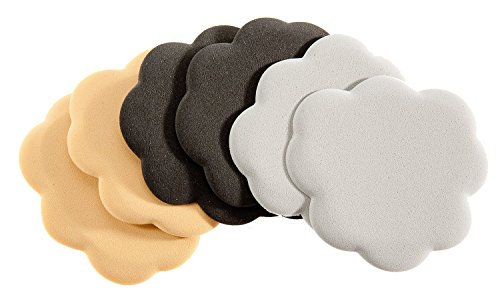 Foot Petals Black/Buttercup/Silver Combo Tip Toes, Triple Pack,Blk/Btr/Slv Combo,one (Combo Shock)