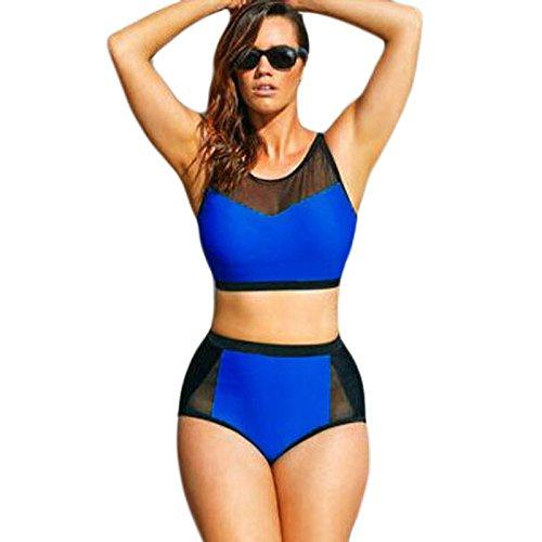 X&L Beach Wear, sexy, FishNet, Nähte, hohe Taille, XL, Bikinis, zweiteilig