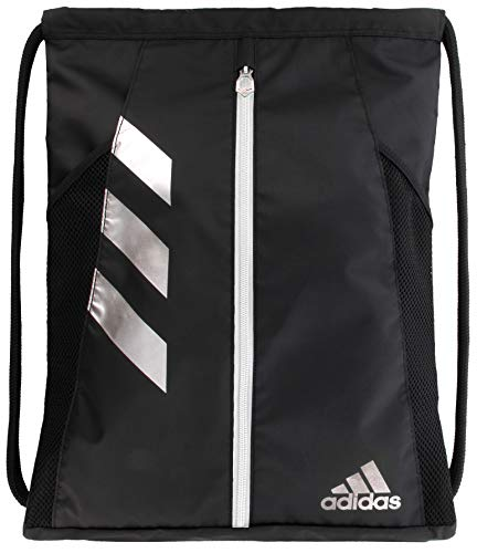 adidas Unisex Team Issue Sackpack, Black/Silver, ONE SIZE