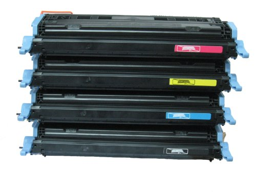 Series Laserjet 2600 Printers Color (HQ Supplies Remanufactured Replacements for HP 124A Toner Set, HP Q6000A Q6001A Q6002A Q6003A Toner Cartridge Set (BCYM) for use in HP Color LaserJet 1600 2600 2605 2605dtn 2605dn 2600n CM1015 MFP CM1017 MFP Series Printers)