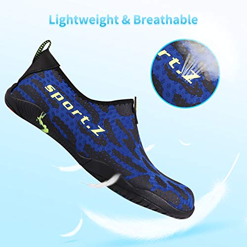 Water Swim Heeta Shoes Dry Aqua Sports for Barefoot Swim Quick Blue Men Z Shoes thick Women Socks h Beach gvqd1rv6