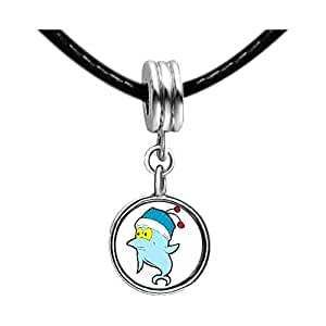 Chicforest Silver Plated Happy Cute Dolphin Photo Emerald Green Crystal May Birthstone Flower dangle Charm Beads Fits Pandora Bracelets
