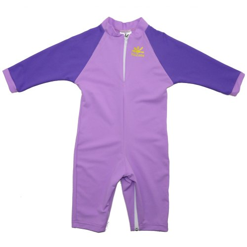 Nozone Fiji Sun Protective Baby Swimsuit in Lavender/Purple, 12-18 Months Baby Infant Swimsuit Bathing Suit