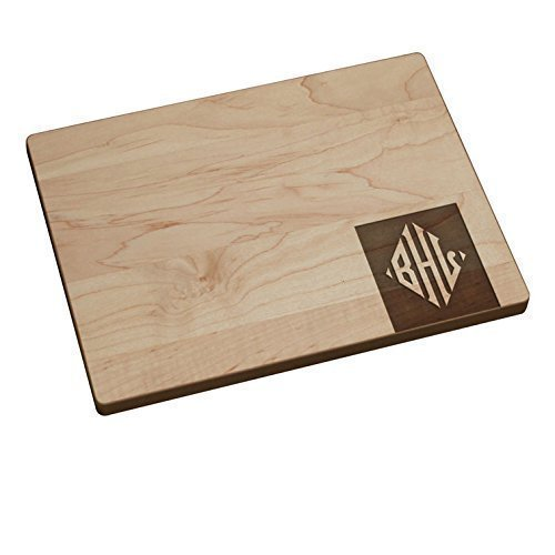 Personalized Cutting Board - Diamond Corner Monogram