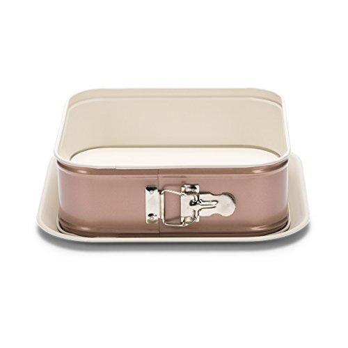 Patisse 03318 Ceramic Square Springform Pan with Non-Stick Surface, Cream/Copper