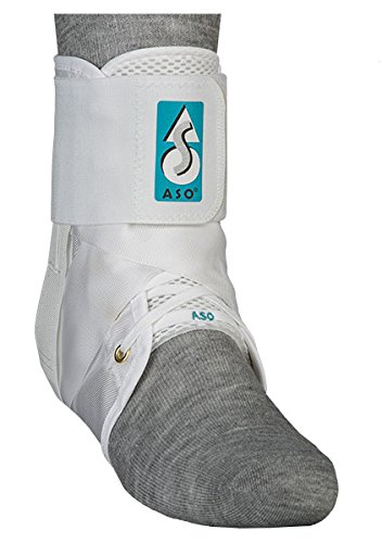 Med Spec 264004 ASO Ankle Stabilizer, White, Medium