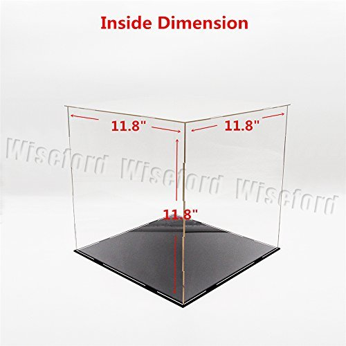 Tingacraft 11.8 Inches Cube Acrylic Display Case/Box Perspex Dustproof ShowCase For Football Basketball Boxing Gloves 1:6 Figures by Tingacraft