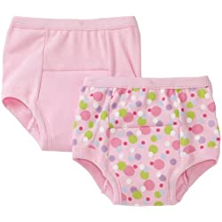 green sprouts by i play. Training Underwear, Pink Dot, 18 Months (Pack of 2)