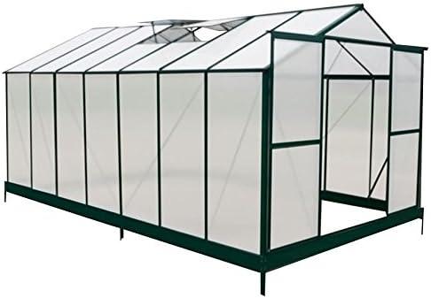 Resistente policarbonato invernadero con marco de aluminio – envío gratuito: Amazon.es: Jardín