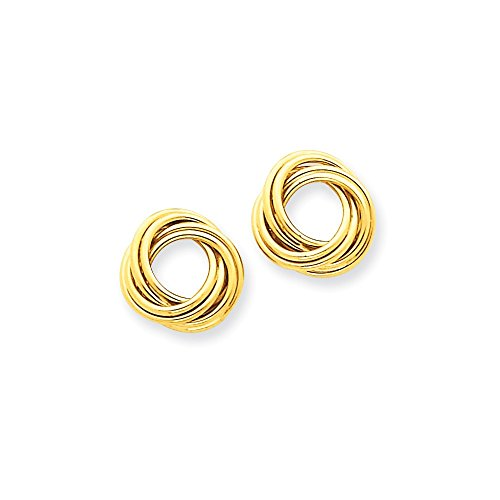 14k Polished Love Knot Post Earrings by Unknown (Image #1)