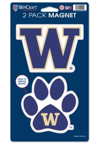 Washington Huskies Ncaa University (NCAA University of Washington Huskies 2-pack Die Cut Magnet Set)