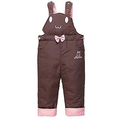 Baby Girls Winter Adjustable Snow Bib Pants 2 Pockets Snowproof Trousers Ideal Hiking Climbing Pants