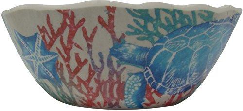 222 Fifth Marine Life Blue Melamine Bowl Set of 4