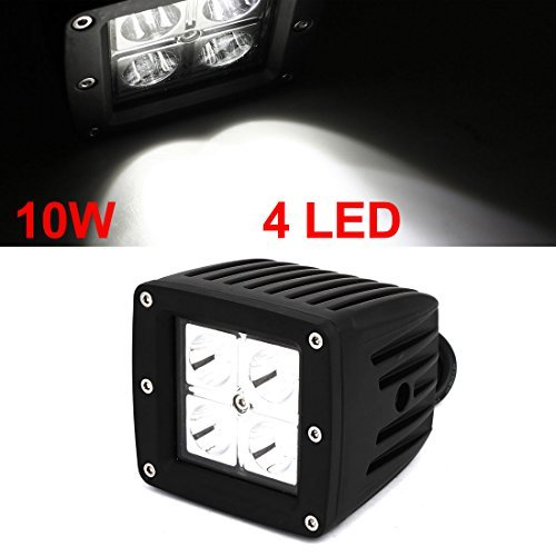 Amazon.com: eDealMax 10W 12V del coche del Blanco 4 LED ...