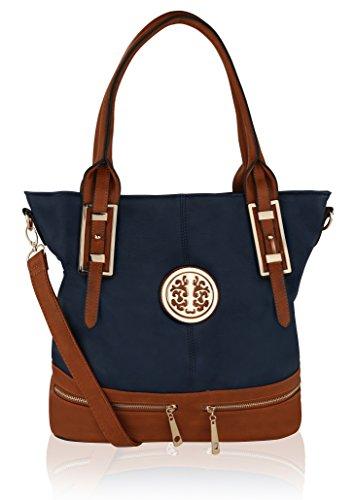 MKF Collection Isabelle Tote Designer Handbag (Navy)