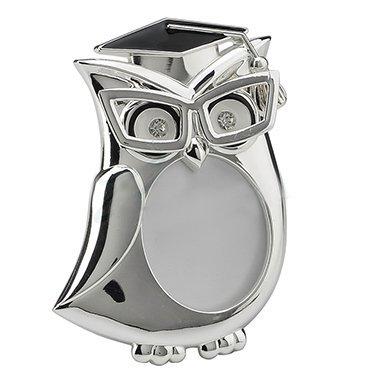 XoticBrands Graduation Owl Round Shape Photo Frame - Animal