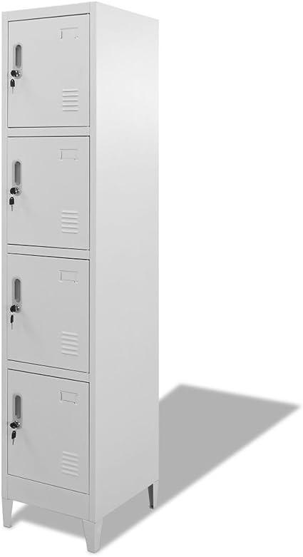 Armadietto per Camera da Letto Armadietto per Ufficio Festnight Armadietto di Metallo Armadietto per Soggiorno con 5 cassetti e 4 rotelle 28/×41/×69cm Grigio Scuro