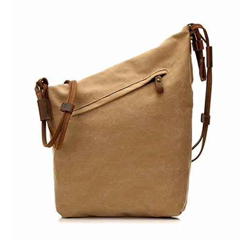 Hombro Bag Hombres Retro Messenger Khaki Cubo Para Prepucio Khaki Y Pollusui Lona Mujeres Correa color Bolsa vYXSxWtn