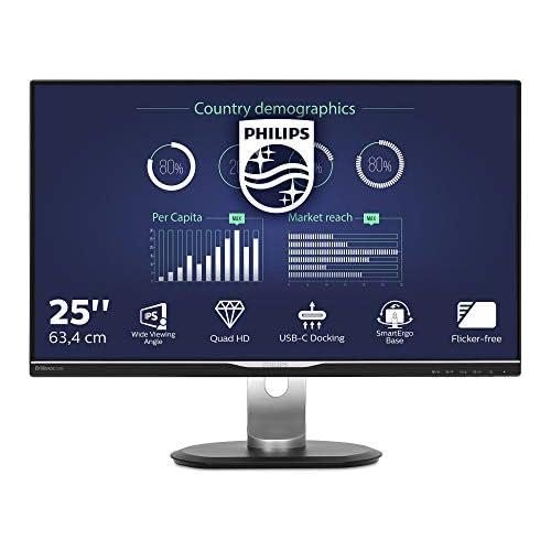chollos oferta descuentos barato Philips Monitors 258B6QUEB 00 Monitor de 25 resolución 2560 x 1440 Pixels tecnología WLED Contraste 1000 1 5 ms VGA Color Negro