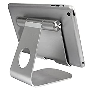 Aobiny Adjustable Dock Degree Rotatable Stand Case Desk Aluminum Alloy Holder for iPad Pro Tablet