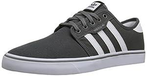 adidas Originals Men's Seeley Skate Shoe,Ash Grey/White/Black,13 M US
