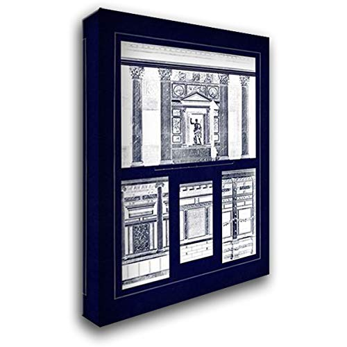 Wall Facing with Marble (Blueprint) 28x40 Gallery Wrapped Stretched Canvas Art by Buhlmann, J. ()