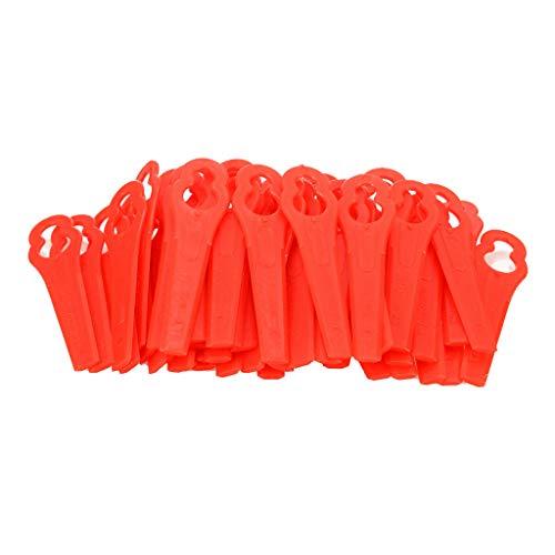 Elevin(TM)  100 Pcs Mower Blades for RT250 Garden Lawn Trimmer Accessories (AB)]()