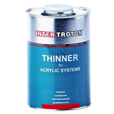 Inter troton Diluant pour produits de 1L Thinner alimentaires meilleure qualité acrylique 2236