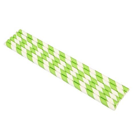 Rycnet Lot de 25 pailles jetables en papier /à rayures de qualit/é alimentaire Red