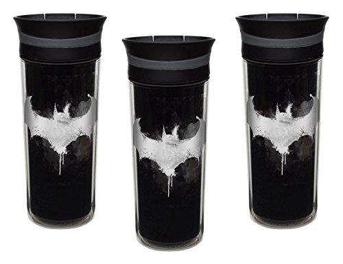Zak Designs 3-Pack Batman Symbol 16oz Leak-Proof Slide Lid Insulated Travel Tumbler Mugs, - Travel 16 Oz United Mug