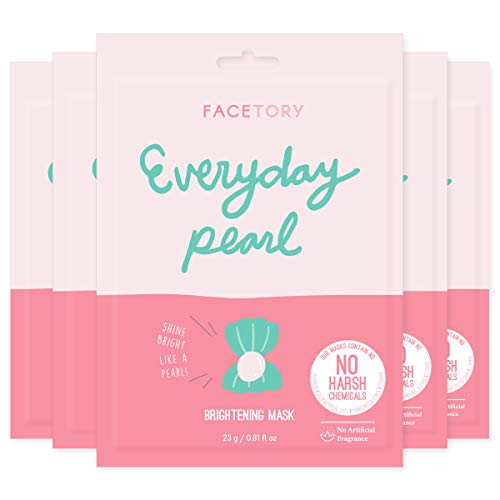 Everyday Pearl Brightening Mask With No Harsh Chemicals - Strengthening, Balancing, and Brightening (Pack of 5)